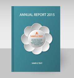 annual report white flower vector image