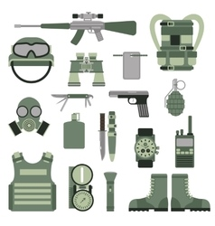 Usa or nato troop military army symbols vector