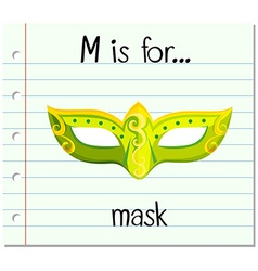 Flashcard letter m is for mask vector
