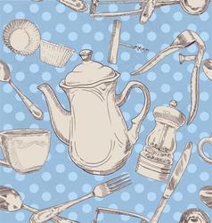 kitchen utensils vintage vector image