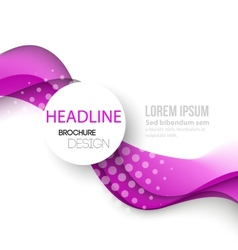 Abstract curved lines background Template brochure vector image