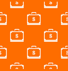 briefcase full of money pattern seamless vector image