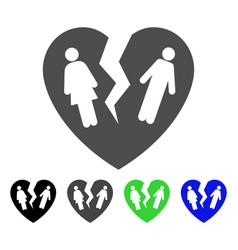 broken family heart icon vector image