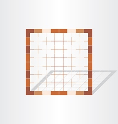 Brown cage grid design element vector