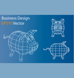 Business concept piggy bank vector
