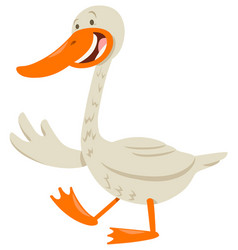 Cute goose animal character vector