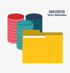 data center technology folder file document vector image