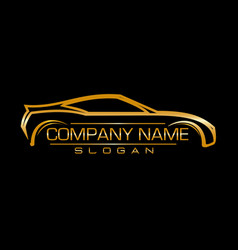design car company black background vector image