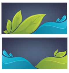 ecology backgrounds vector image vector image