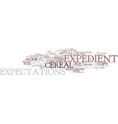 Expedient word cloud concept vector