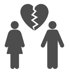Family divorce flat icon vector