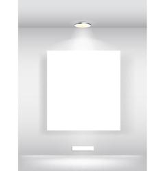 Gallery interior with empty space vector