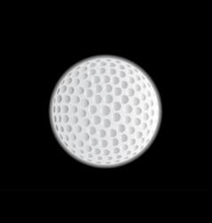 golf ball moon vector image vector image