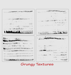 Grungy hand made textures set vector