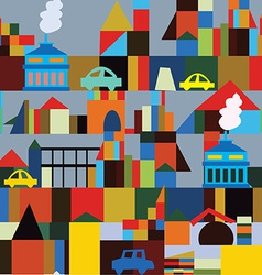 Industrial town seamless pattern vector image vector image