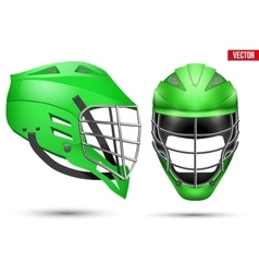 Lacrosse Helmet set vector image vector image