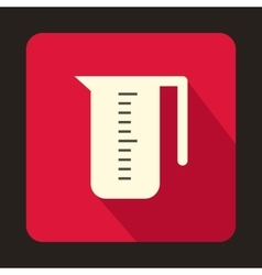 Measuring cup icon in flat style vector