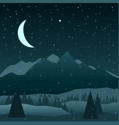 night in mountains vector image