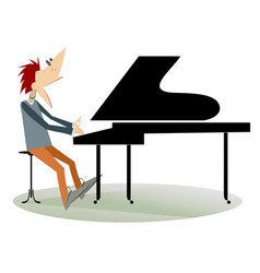 Pianist man isolated vector