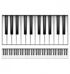 Piano keyboard vector