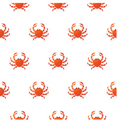 red crab cartoon pattern vector image