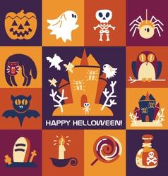 Set-of-halloween-icons vector image