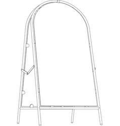 Sketch of wire-frame sidewalk sign vector