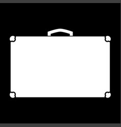 suitcase white color icon vector image vector image