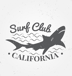 Surfing concept for shirt or logo print stamp For vector image