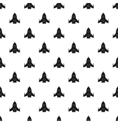 Universal rocket pattern simple style vector image vector image