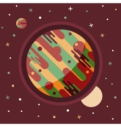 Vintage space and astronaut background vector