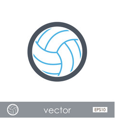 Volleyball outline icon summer vacation vector