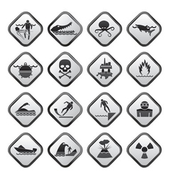 Warning signs for dangers vector