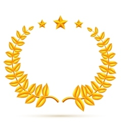 Winner Laurel Wreath and Stars vector image vector image