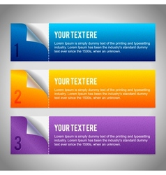Set of 3 paper banners vector image
