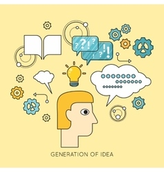 Generation of idea background in flat vector