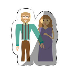 Family pregnant unity people vector