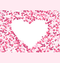 Abstract repeating heart shape background vector