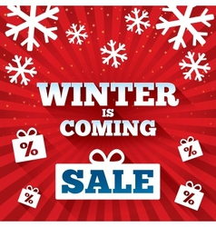 Winter is coming sale background vector image