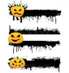 grunge Halloweenborders vector image