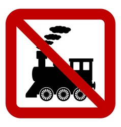 No locomotive sign vector