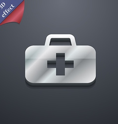 Medicine chest icon symbol 3d style trendy modern vector