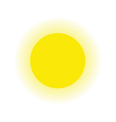 Sun and ray isolated white background vector