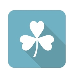 Clover square icon vector