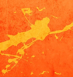 Bright orange paint splash background vector