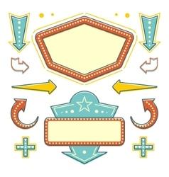 Retro American 1950s Sign Design Elements Set vector image