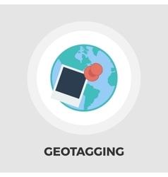 Geotegirovanie flat icon vector