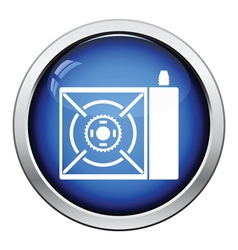 Camping gas burner stove icon vector