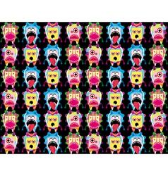Cartoon Monsters background vector image