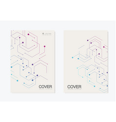 abstract geometric background modern brochure vector image